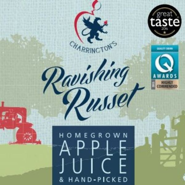 Ravishing Russet Apple Juice Label