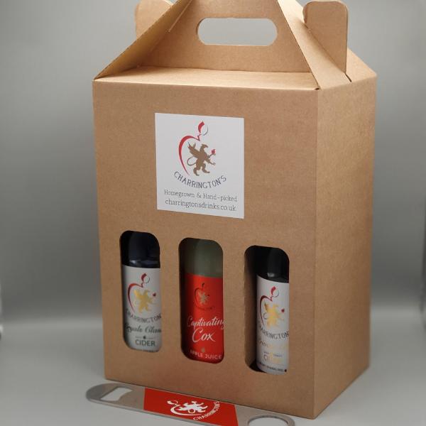 6 bottle gift box with bar blade - Charrington's Drinks